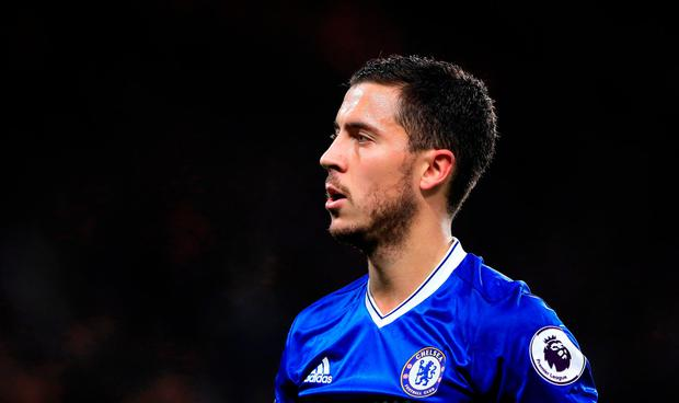Eden Hazard was once again asked about his future. Getty