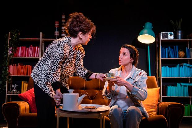 Gripping: Brid Ni Neachtain and Maeve Fitzgerald star in Collective Stories by Donald Margulies which is now playing at the Civic Theatre, Tallaght and later touring