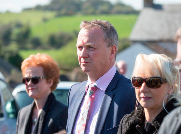 Matt Cooper at the funeral mass of Tom Savage in St. James' Church, Grange, Cooley, Co. Louth. Pic:Mark Condren