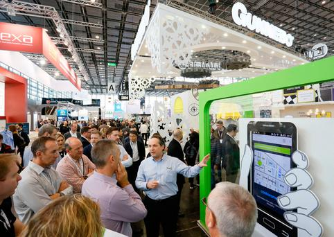 Some of the technology on display at the EuroShop 2017 event