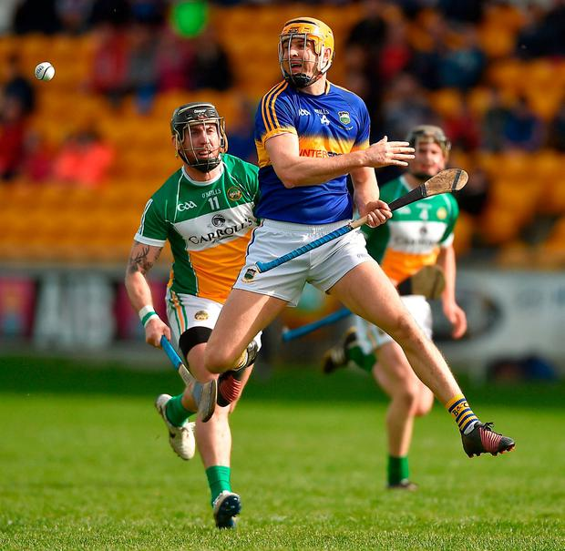 Tipperary's Seamus Callanan in action against Offaly's Shane Dooley. Photo: David Maher/Sportsfile