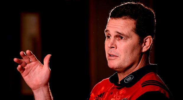 Munster director of rugby Rassie Erasmus Photo: Diarmuid Greene/Sportsfile