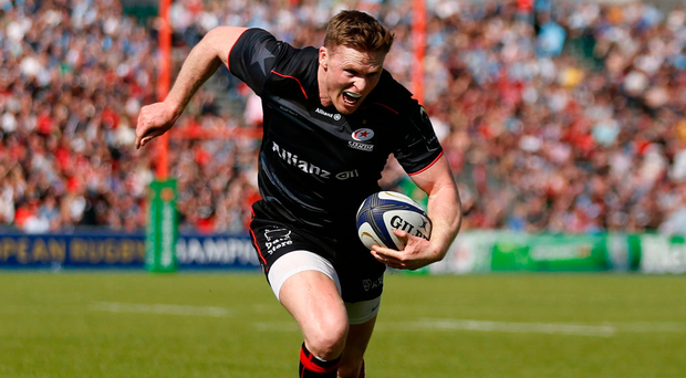 Saracens' Chris Ashton runs in to score their fifth try Photo: Paul Harding/PA Wire