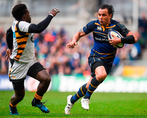 Leinster's Isa Nacewa attempts to pass Christian Wade of Wasps Photo: Seb Daly/Sportsfile