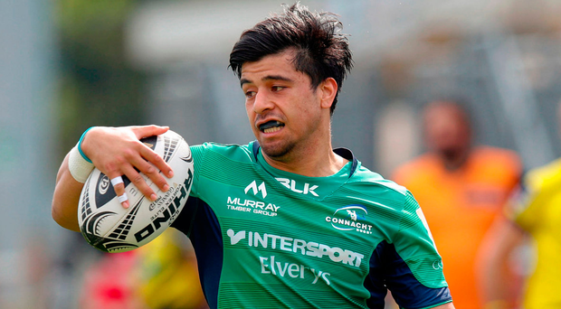 Connacht's Stacey Ili runs in to score his side's first try Photo: Roberto Bregani/Sportsfile