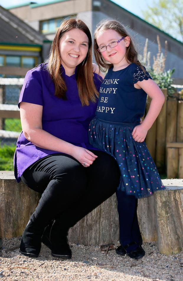 Tammie Weldon pictured with her daughter Teagan who was born premature. Picture Credit: Frank Mc Grath 31/3/17