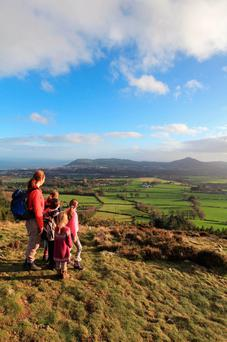 Looking toward Bray Head and Little Sugar Loaf from the summit of Carrickgollogan.