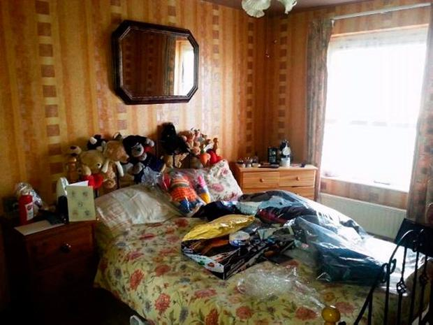 The Master bedroom of the Baker house in Craigavon.