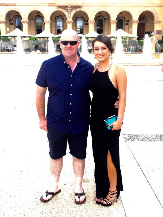 Aimee and pictured with her stepdad Robert.