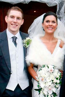 John McAreavey on his wedding day with his wife Michaela. She was murdered just 12 days after they wed. Photo: PA