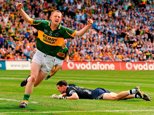 Colm Cooper celebrates the goal that sparked an avalanche against Dublin during the 2009 All-Ireland semi-final. Photo: Stephen McCarthy/Sportsfile