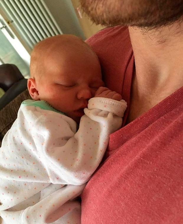 Tommy Bowe's daughter Emma was born on Sunday