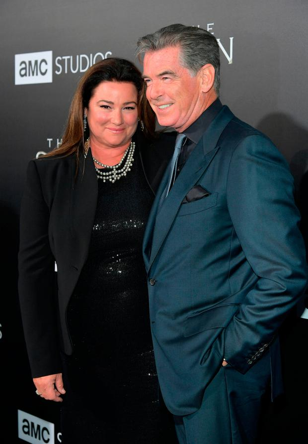 Pierce Brosnan and wife of 16 years Keely Shaye look ...