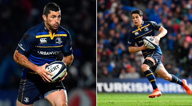 Rob Kearney (left) and Joey Carbery (right).