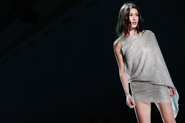 Bella Hadid walks the runway during the Alexandre Vauthier Spring Summer 2017 show as part of Paris Fashion Week on January 24, 2017 in Paris, France. (Photo by Vittorio Zunino Celotto/Getty Images)