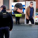 Stock photo of armed gardai in Dublin and inset Gerry Hutch and Christy Kinahan