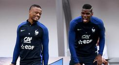 Pogba and Evra are close friends off the pitch. Getty