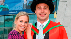Tommy Bowe and wife Lucy Picture: John Dickson / SPORTSFILE