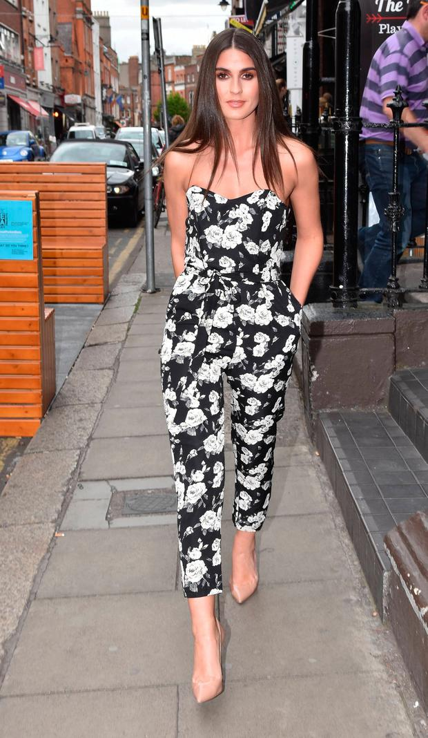 Lynn Kelly spotted filming a fashion segment for Xpose on South William Street, Dublin