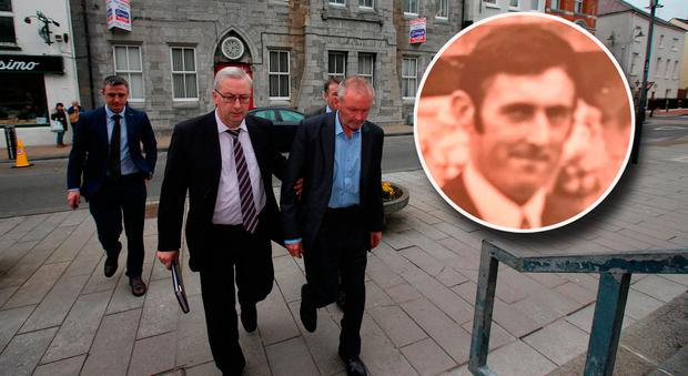 Michael Ferris (centre) who appeared at Tralee District Court this morning. Anthony O'Mahony (inset) Pic:Mark Condren
