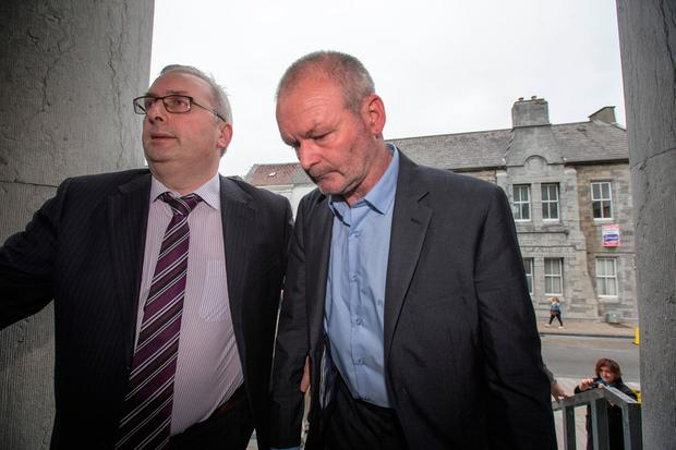 Michael Ferris (right) who appeared at Tralee District Court this morning charged with murder. Pic:Mark Condren
