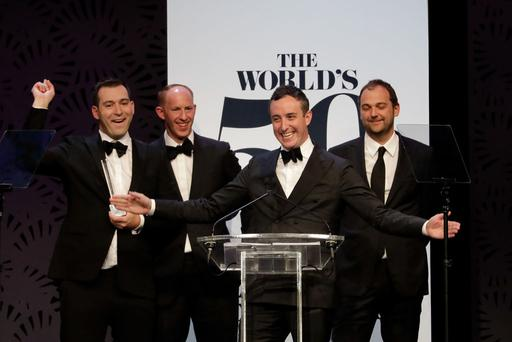 Best restaurant in the world - Eleven Madison Park during the World's 50 Best Restaurants Award Ceremony on April 5, 2017 in Melbourne, Australia. (Photo by Sam Tabone/WireImage)