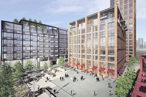 Kennedy Wilson is building apartments at Capital Dock which it intends to offer to office occupiers at the development