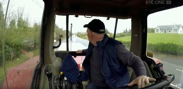 Patrick Shalvey breaks Tractor Reversing World Record on RTÉ One's Big Week on the Farm. Image: RTE