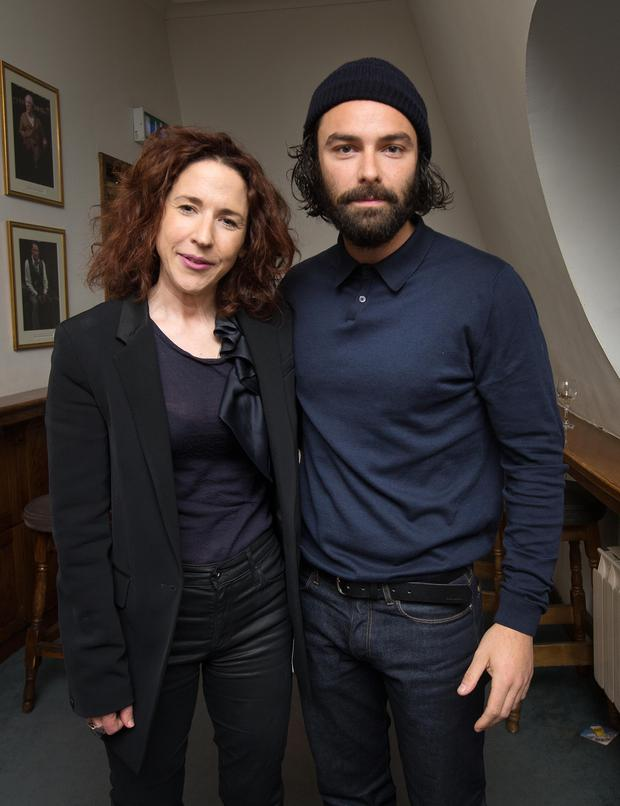 The new director of The Gate theatre Selina Cartmell with actor Aidan Turner at the opening night of Noel Coward's Private Lives. Photo: Tony Gavin 5/4/2017