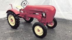 A vintage Porsche tractor which is part of the auction