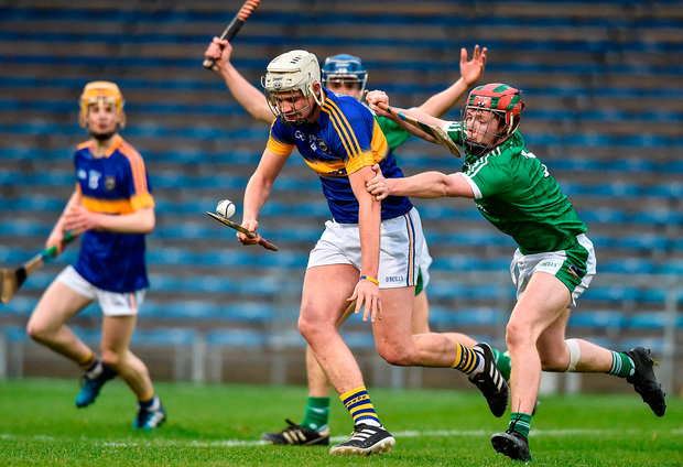 Tipperary's Anthony McKelvey action against Limerick's Conor Nicholas. Photo: Sportsfile