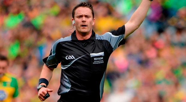 Roscommon's Paddy Neilan has been chosen to referee Sunday's Dublin-Kerry Allianz Football League final. Photo: Oliver McVeigh/Sportsfile