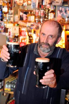 TD Danny Healy-Rae, pictured pulling pints in Kilgarvan, Co Kerry, has been criticised for his comments on drink driving. Photo: Don MacMonagle