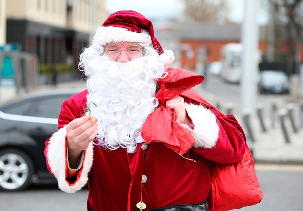 oldcastle county meath ireland santa claus accused of handing out sweets and posing for photos