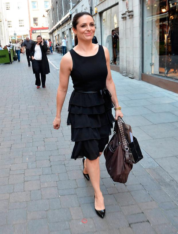 Grainne Seoige out and about in Dublin in 2011