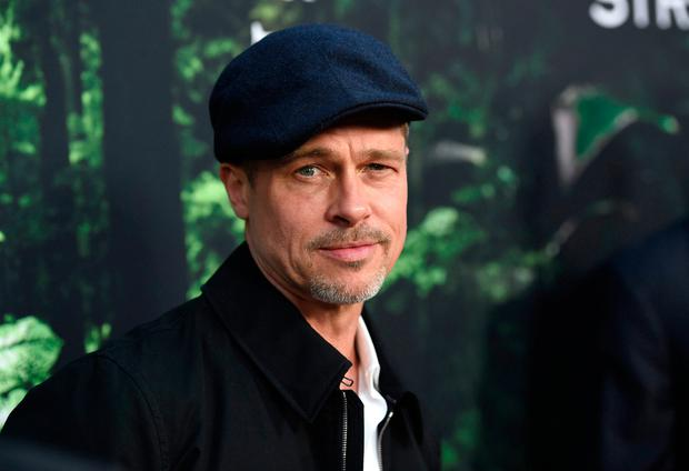 Brad Pitt arrives at the Los Angeles premiere of