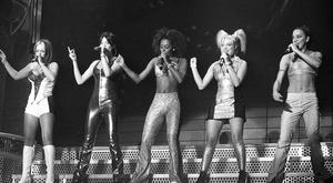 The Spice Girls on stage at the The Point, Dublin, in 1998