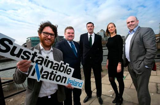 Dr Eoin Syron of OxyMem, SNI Chairman John Mullins, CEO of UrbanVolt Kevin Maughan, Rachel Waite of FinestraPRo and CEO of Sustainable Nation Ireland Stephen Nolan.