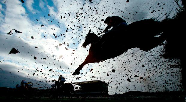 A general view of a fence during day one of the Randox Health Grand National Festival at Aintree