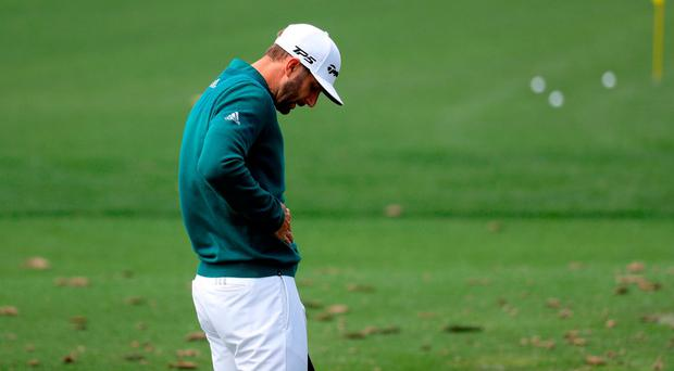 Dustin Johnson is out