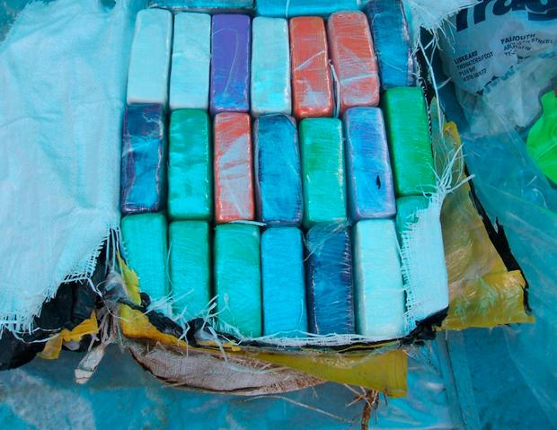 Photo issued by the National Crime Agency of a cocaine haul in the fishing boat The Bianca, as her skipper Michael McDermott (Image: PA)