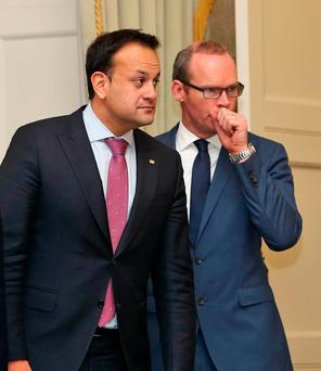 Ministers Leo Varadkar and Simon Coveney Photo: Collins Dublin.