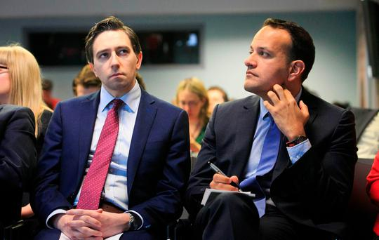 Health Minister Simon Harris and Social Protection Minister Leo Varadkar attend the launch of a new report entitled Make Work Pay' which looks at the barriers facing people with disabilities Photo: Gareth Chaney Collins