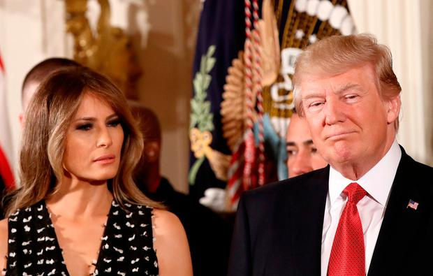 U.S. President Donald Trump and first lady Melania Trump. (Photo by Win McNamee/Getty Images)