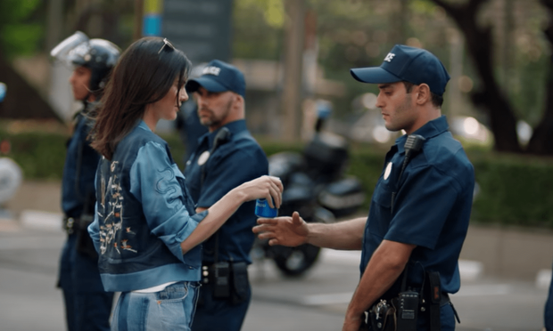 Kendall Jenner in the controversial new Pepsi ad