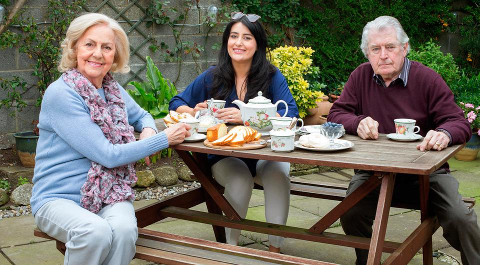Sarah Kiely's visits her future mother in law Pauline and father in law Michael Lavelle