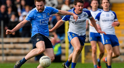 Jack McCaffrey shoots past Monaghan's Ryan Wylie
