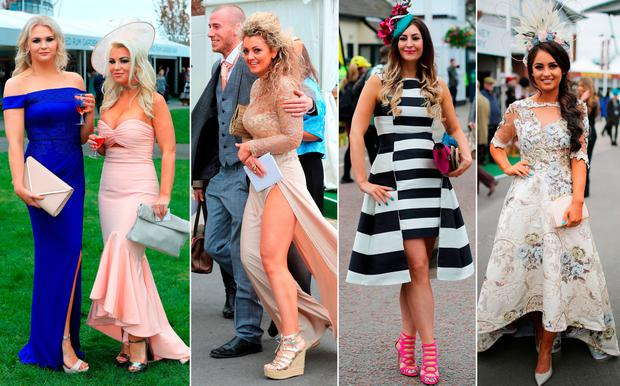 Racegoers at Ladies Day at Aintree
