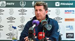 Republic of Ireland head coach Colin Bell during a press conference at the FAI National Training Centre in Abbotstown, Dublin. Photo by Matt Browne/Sportsfile