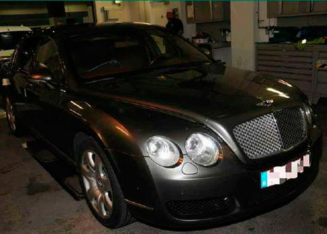 Undated National Crime Agency handout photo of a Bentley with a secret roof space used by Florentino Gonzalez to smuggle millions of pounds worth of cocaine into the UK Photo: NCA/PA Wire